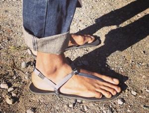 bedrock sandals in action