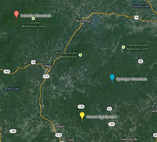 Southern Terminus Locations