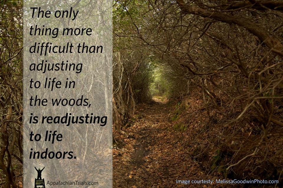 adjusting to life indoors quote