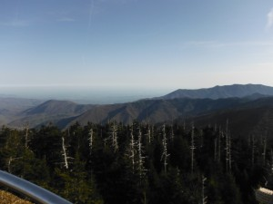 The view of the smokies from Clingman's Dome