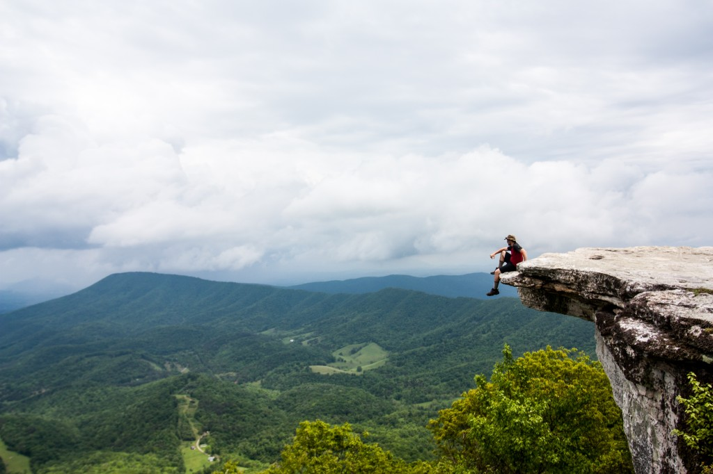 Hang off McAfee Knob