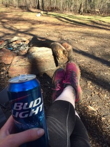 Trail magic beer!