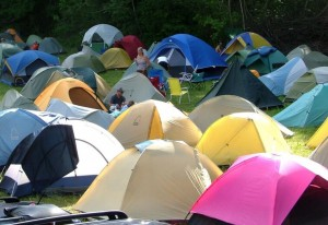 Tent city in the field. I stole this pic from Google but this is pretty much what it looked like