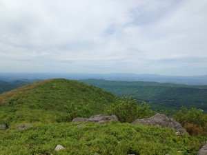 One of the views we had while hiking the Grayson Highlands