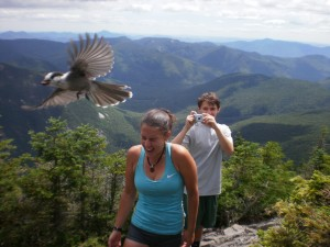 White Mountains: where the birds eat off your head.