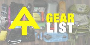Appalachian Trail Thru-Hiker Gear List