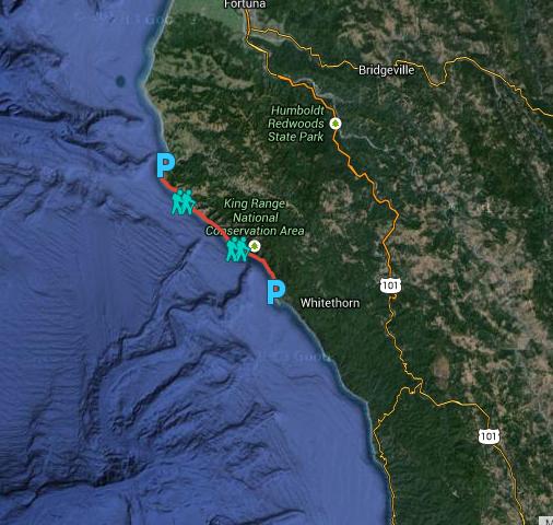 Lost Coast Trail Map