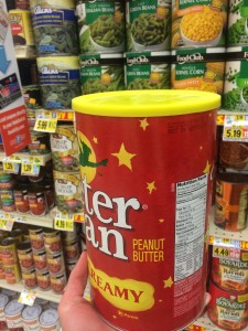 85 servings of peanut butter.  Food City in Damascus got the hook up.