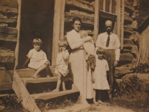 Grandma Gatewood with her Husband, P.C., and their four youngest children back when she was still known as Emma.