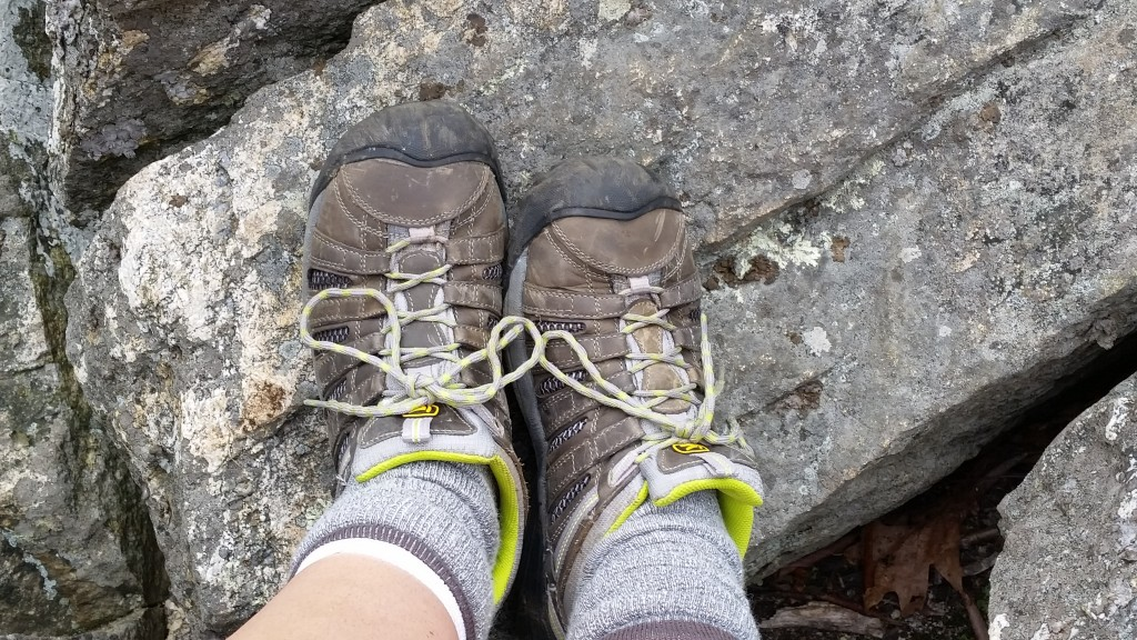 My amazingly comfortable Keen Voyageur hiking shoes
