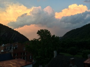 Beautiful clouds above Harpers Ferry