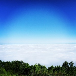 I woke up above the clouds one morning. Definitely one of the coolest things I've seen out here.