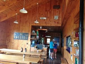 Inside Zealand Falls Hut (I think)