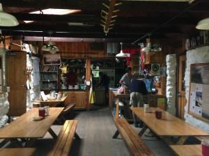 Inside Carter Notch Hut