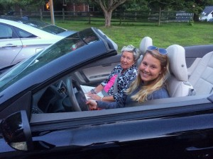 Cruisin' in the convertible with Grandma