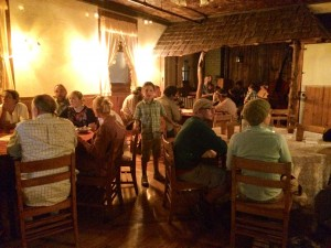 Dinner to celebrate the Sabbath with the 12 tribes