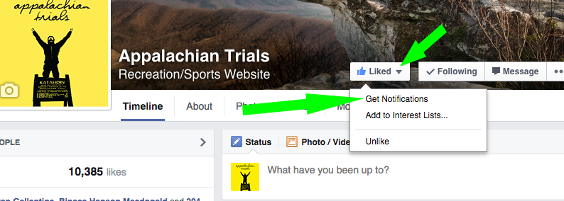 Notifications Appalachian Trials