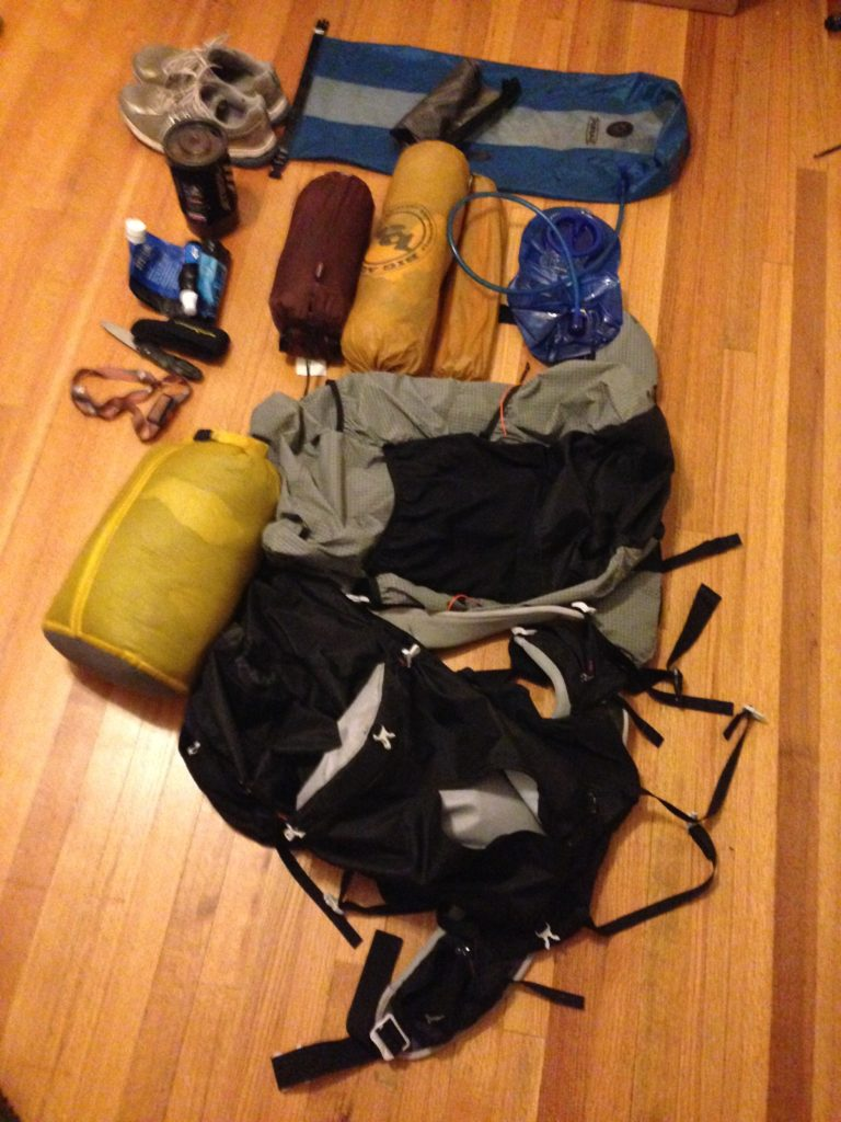 Badger's Sleeping Bag, Pack, and Tent