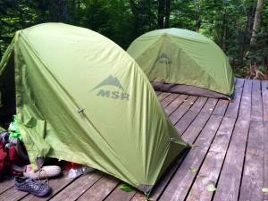 Tent twins!