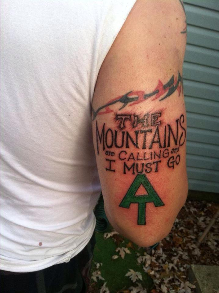 mountains calling tattoo