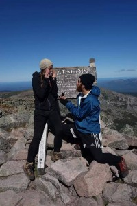 Surprise!! Botany proposes to Blossom just minutes after they completed their 2014 through hike of the Appalachian Trail.