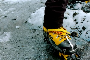 Crampons are a must for ice climbing