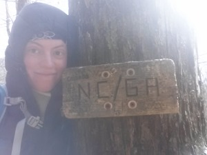 Crossing the last state line of my hike