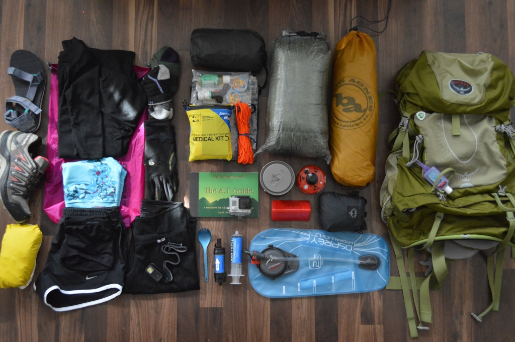 Not Pictured: Trekking Poles, 2015 Edition of AWOL, Down Jacket