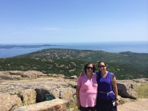 My mom and I in Acadia National Park this past August.