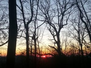 Last sunrise of my hike.