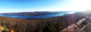 The view of Greenwood Lake