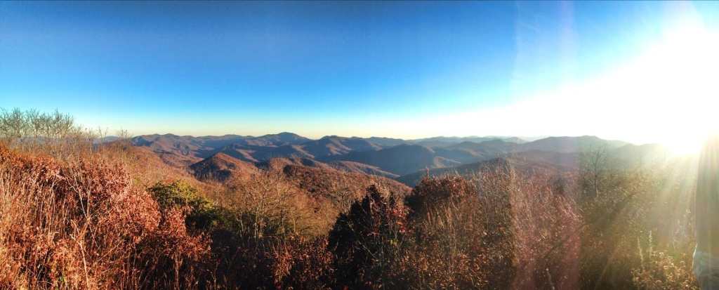 Siler Bald at Sunset