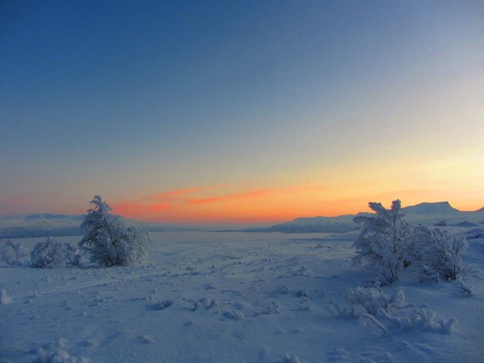 winter north Sweden