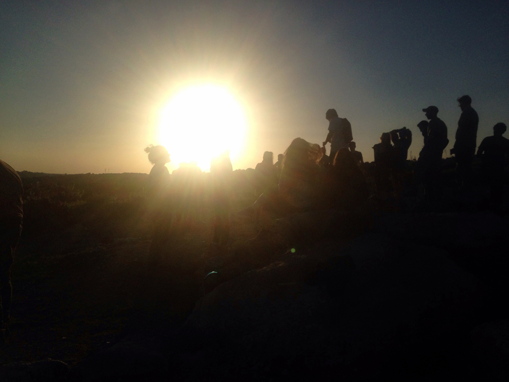 Using lens flare for silhouettes.