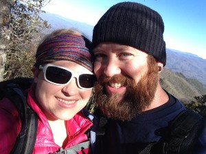 Jacob and I stopped at a lower lookout point at Wesser. I really believe that the people you meet make the hike, and have been trying to take more photos of people! Also, that beard though.