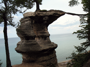 Chapel Rock, overlooking Lake Superior