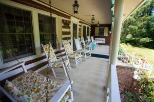 The Campbell's enjoy having visitors rest their feet on their front porch each season. (Photo courtesy of Roan Mountain Bed & Breakfast)