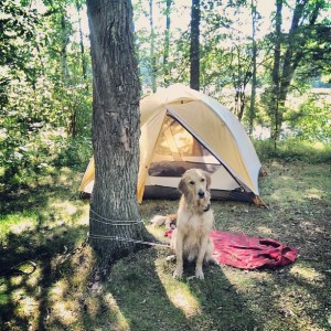Griffin & I on our first solo camping experience