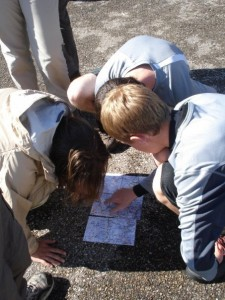 Spring 2009: Examining our map in the Shenandoah National Park.