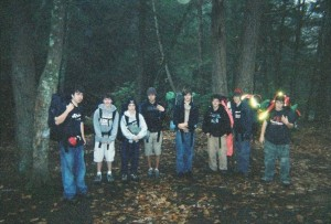 Fall 2005: First ever backpacking trip on the Nipmuck Trail in Mansfield, Connecticut.