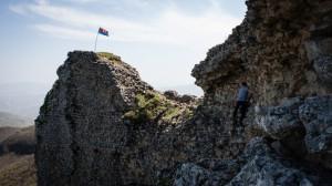 Andrew climbing Qala Alti