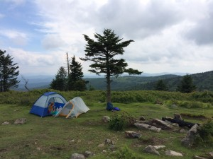 Grayson Highlands With our Big Agnes pictured. It's the orange tent.