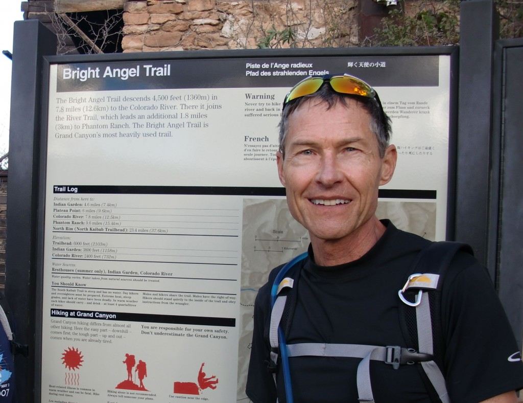 From the South Rim of the Grand Canyon to the Colorado River and back in one day.  Suitable only for well trained athletes and even then discouraged by park rangers.