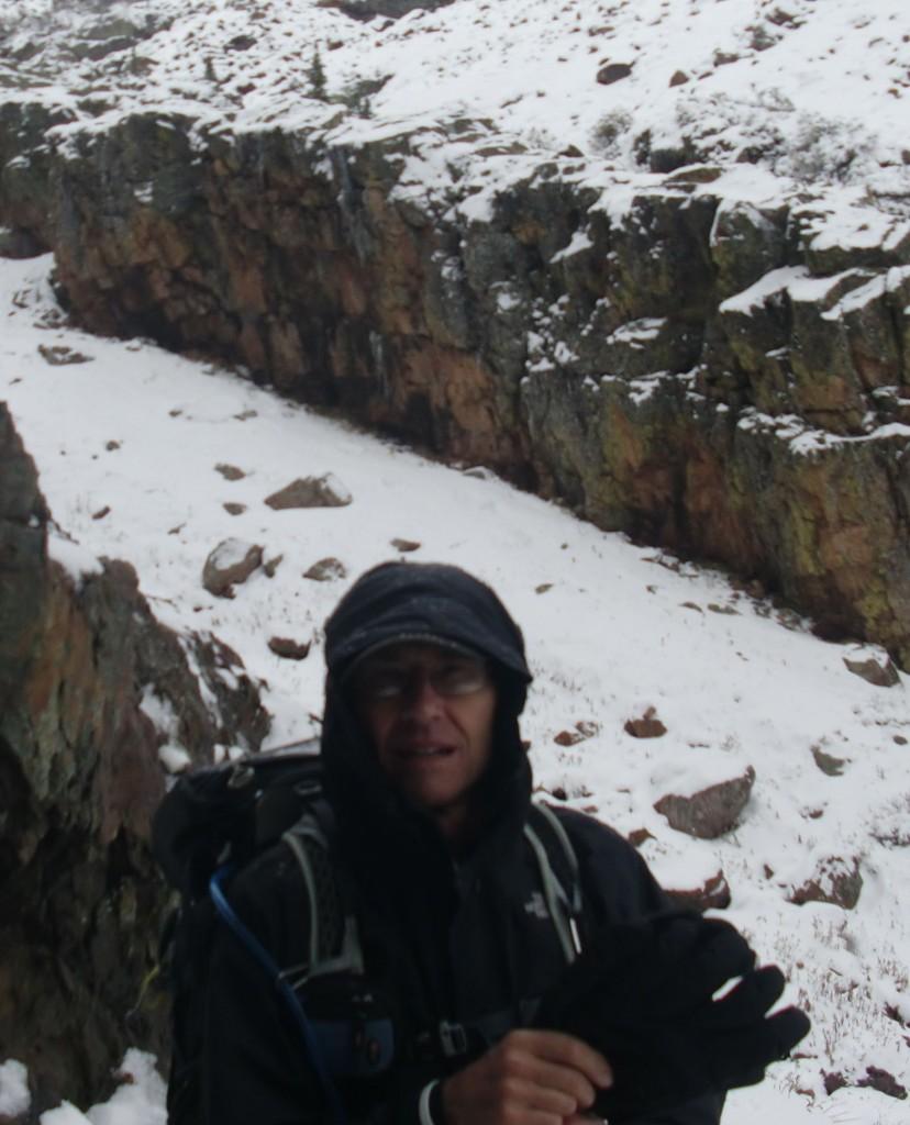 Hiking to top section of Elk Creek in Colorado's San Juan Mountains.