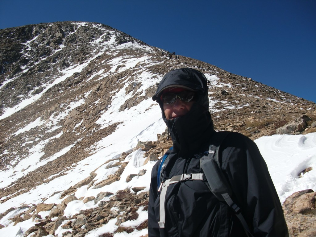 HIgh winds resulted in a failed attempt to summit Mt Elbert, Colorado's highest mountain.  Still a  great preparation hike  assending about 4,500 before turning around in defeat.
