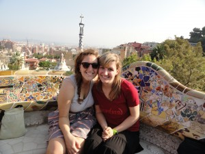 Barkley and I exploring Parc Guell in Barcelona Spain.