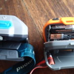 Headlamp battery compartment comparison