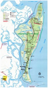 Map Of Cumberland Island.