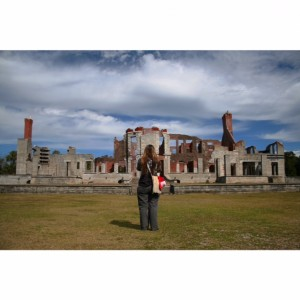 The Dungeness Ruins with my beautiful wanderlust sister, Jen!