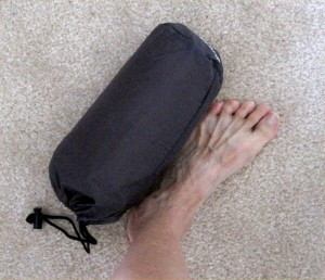 My sleep mat in a pack is only a little bigger than my foot!